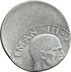 obverse: Regno di Italia. Vittorio Emanuele III (1900-1946). 50 centesimi 1940, ERRORE DI CONIAZIONE.    Pag. 823. AC.      FDC.