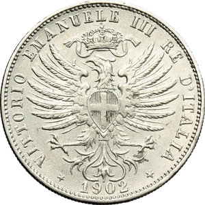 obverse: Regno di Italia. Vittorio Emanuele III (1900-1943). 25 centesimi 1902.    Pag. 827. Mont. 273. NI.    R.  qSPL/SPL.
