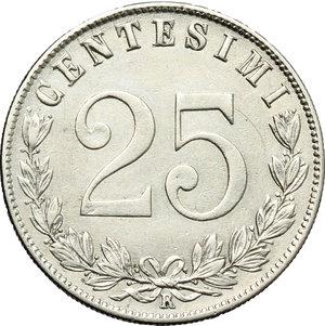 reverse: Regno di Italia. Vittorio Emanuele III (1900-1943). 25 centesimi 1902.    Pag. 827. Mont. 273. NI.    R.  qSPL/SPL.