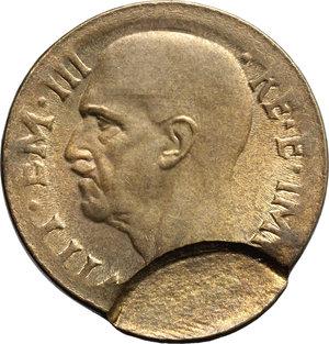 obverse: Regno di Italia. Vittorio Emanuele III (1900-1943). 10 centesimi 1940 A. XVIII, ERRORE DI CONIAZIONE.     AE.      FDC.