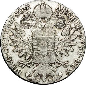 reverse: Casa Savoia. Vittorio Emanuele III (1900-1943). Tallero 1780 Roma.    Mont. 747. AG.   mm. 40.00    BB.
