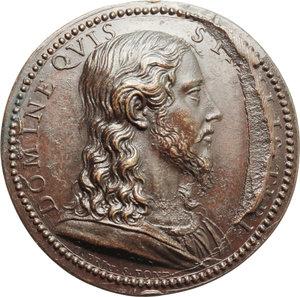 R/ Urbano VIII (1623-1644), Maffeo Barberini. Medaglia A. V con Busto di Cristo.    Lincoln 919. AE.   mm. 37.00   Rottura di conio, altrimenti qFDC.
