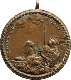 R/ Clemente XI (1700-1721), Giovanni Francesco Albani. Medaglia A. III.    Miselli 39. AE.   mm. 35.75   Con appiccagnolo Bel BB.