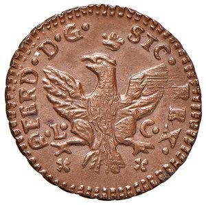 Palermo. Ferdinando III di Borbone (1759-1816). Da 3 piccioli 1776 (sigla GL-C; Gabriele Lancillotto Castello zecchiere, 1775-1790) CU gr. 2,08. Spahr 117. MIR 637/2. Più di SPL