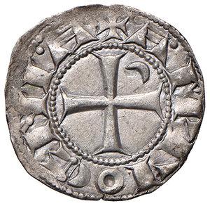 R/ Antiochia. Boemondo III (1163-1201). Denaro AG gr. 1,01. Schlumberger T. III, 4b. MPS 60. SPL