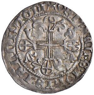 R/ Rodi. Juan Fernandez de Heredia (1376-1396). Gigliato AG gr. 3,85. Schlumberger T. X, 9 var (P sotto gli scalini della croce). MPS 25c. Ex Numismatica Picena listino 2/2009, 757. Debolezza di conio, altrimenti buon BB