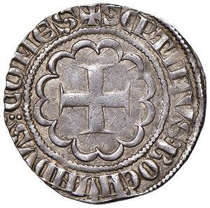 D/ Tripoli. Boemondo VII (1275-1287). Grosso AG gr. 4,26. Schlumberger T. IV, 21. MPS 26. Ex Numismatica Picena listino 2/2009, 758. Raro. Patina di medagliere, q.SPL