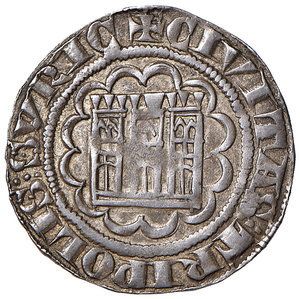 R/ Tripoli. Boemondo VII (1275-1287). Grosso AG gr. 4,26. Schlumberger T. IV, 21. MPS 26. Ex Numismatica Picena listino 2/2009, 758. Raro. Patina di medagliere, q.SPL