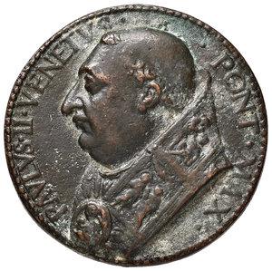 D/ Paolo II (1464-1471). Medaglia AE gr. 38,87 diam. 40 mm. Opus Cristoforo di Geremia. Per le pubbliche udienze del pontefice. Hill 766. Antica fusione. Migliore di BB