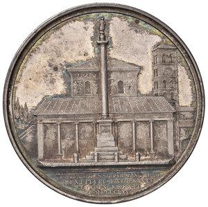 R/ Pio IX (1846-1878). Medaglia anno XX/1865 AG gr. 33,50 diam. 43,50 mm. Opus Ignazio Bianchi. Per l'erezione della colonna a S. Lorenzo fuori le mura. Bartolotti E865. Più di SPL
