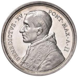 D/ Benedetto XV (1914-1922). Medaglia anno II/1916 AG diam. 44 mm. Opus Francesco Bianchi. Preghiera per la pace. Bartolotti E916. FDC