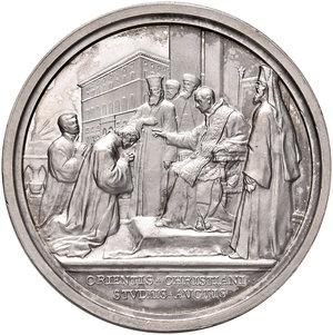 R/ Benedetto XV (1914-1922). Medaglia anno IV (1918) AG diam. 44 mm. Opus Francesco Bianchi. Per l'Istituto pontificio degli studi orientali. Bartolotti E918. FDC