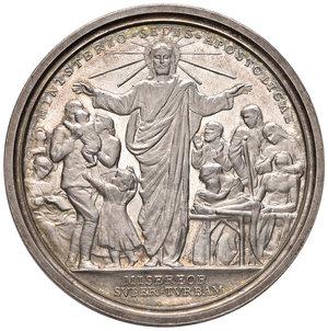 R/ Benedetto XV (1914-1922). Medaglia anno V (1919) AG diam. 44 mm. Opus Giuseppe Romagnoli. La Chiesa madre dei sofferenti. Bartolotti E919. FDC