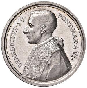 D/ Benedetto XV (1914-1922). Medaglia anno VI/1920 AG diam. 44 mm. Opus Aurelio Mistruzzi. Canonizzazioni del 1920. Bartolotti E920. FDC