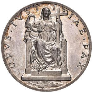 R/ Pio XII (1939-1958). Medaglia anno II (1940) AG diam. 44 mm. Opus Aurelio Mistruzzi. Esortazione alla pace. Bartolotti E940. q.FDC