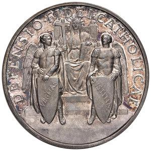 R/ Pio XII (1939-1958). Medaglia anno XI (1949) AG diam. 44 mm. Opus Aurelio Mistruzzi. Difesa delle fede cattolica. Bartolotti E949. FDC