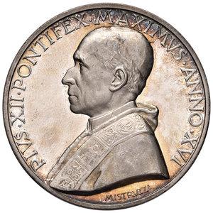 D/ Pio XII (1939-1958). Medaglia anno XVI/1954 AG diam. 44 mm. Opus Aurelio Mistruzzi. Proclamazione dell'anno mariano. Bartolotti E954. FDC
