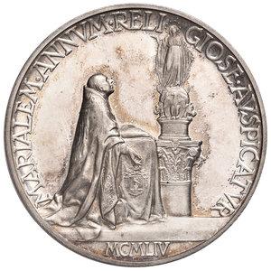 R/ Pio XII (1939-1958). Medaglia anno XVI/1954 AG diam. 44 mm. Opus Aurelio Mistruzzi. Proclamazione dell'anno mariano. Bartolotti E954. FDC