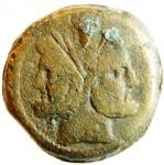 obverse: Repubblica Romana. Dopo il 211 a.C. Asse Anonimo. Ae. D/ Testa di Giano. R/ Prora di nave romana. Cr.56/2. Peso 349,50 gr. Diametro 31,00 mm. MB.°°