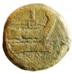 reverse: Repubblica Romana. Dopo il 211 a.C. Asse Anonimo. Ae. D/ Testa di Giano. R/ Prora di nave romana. Cr.56/2. Peso 349,50 gr. Diametro 31,00 mm. MB.°°