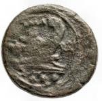 reverse: Repubblica Romana - Serie di ROMA in monogramma. 211-210 a.C.Quadrante. Ae. D/ Testa di Ercole con leonté a destra, dietro °°°. R/ Prua verso destra, sopra ROMA, davanti ROMA in monogramma; sotto °°°. Craw. 84/6; Syd. 190b. Peso gr. 6,58; Diametro mm. 23,5.qBB.Patina verde scura.NC.§