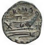 reverse: Repubblica Romana - Serie Stella. 169-158 a.C. Quadrante. Ae.D/ Ercole a destra. R/ Prora, sopra ROMA, davanti stella. Peso gr. 4,43. Diametro mm. 17,6. BB-SPL. Bella patina verde.