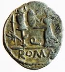 reverse: Repubblica Romana. Gens Egnatuleia. C. Egnatuleius C.f. ca 97 a.C. Quinario. Ag. D/ C. EGNATVLEI. C.F.Q Testa laureata di Apollo a destra. R/ Vittoria a sinistra; inscrive uno scudo posto su un trofeo, nel campo a sinistra carnyx. Nel campo al centro, Q. In esergo ROMA. B. Egnatuleia 1. Syd. 588. Cr. 333/1. Peso gr. 1.9. Diametro mm. 16,00. BB+.
