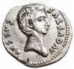 obverse: Impero Romano - Augusto. 27 a.C-14 d.C.Denario. Ag. Colonia Patricia (?), Ca. 19 a.C. ? D/ CAESAR AVGVSTVS, Testa nuda a destra (sulla testa lettere?). R/ (OB CIVES) - SERVATOS ? in due linee rette sopra e sotto corona di quercia. Peso gr. 2,54. Diametro mm. 20,56.BB-qSPL.Imperfezioni.R.§
