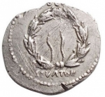 reverse: Impero Romano - Augusto. 27 a.C-14 d.C.Denario. Ag. Colonia Patricia (?), Ca. 19 a.C. ? D/ CAESAR AVGVSTVS, Testa nuda a destra (sulla testa lettere?). R/ (OB CIVES) - SERVATOS ? in due linee rette sopra e sotto corona di quercia. Peso gr. 2,54. Diametro mm. 20,56.BB-qSPL.Imperfezioni.R.§