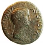 obverse: Impero Romano. Antonia. 38 a.C. - 39 d.C. Asse. Ae. D/ ANTONIA AVGVSTA Testa di Antonia verso destra. R/ TI CLAVDIVS CAESAR AVG P M TR P IMP Antonia velata con simpulum verso sinistra tra SC. RIC.92. Peso 16,06 gr. Diametro 27,15 mm. BB.ex Asta Varesi 62, lotto 80. R.°°