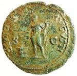 reverse: Impero Romano. Nerone. 54-68 d.C. Asse. AE. Lugdunum. 64-67 d.C. D\ IMP NERO CAESAR AVG P MAX TR P P P, Testa nuda a destra, globo alla base del collo. R\ GENIO - AVGVSTI, Genio stante verso sinistra, tiene cornucopia e patera; davanti a lui un altare; ai lati, S - C. RIC 533; C 103. Peso 9,44 gr. Diametro 26,00 mm. BB+.°°