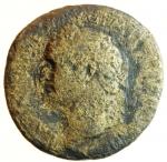 obverse: Impero Romano. Vespasiano. 69-79 d.C. Sesterzio. Coniato a Roma nel 71 d.C. Ae. D\ IMP CAES VESPASIAN AVG P M TR P P P COS III Testa laureata verso destra. R/ IVDAEA CAPTA, nel campo Vespasiano in piedi verso destra con una piede appoggiado su di un elmo, al centro una palma, a destra una Ebreo seduto su di una corazza, in esergo S-C. RIC II 167. Peso 17,80 gr. Diametro 30,2 mm. MB. (Tentativo maldestro di ripatinare la moneta rimosso).