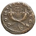 reverse: Impero Romano - Domiziano. Cesare. 69-81 d.C.Dupondio. Æ. Zecca di Roma 74 d.C, probabilmente per la circolazione in Siria. D/ Testa laureata a sinistra. R/ Caduceo alato tra due cornucopie. RIC II 764 (Vespasiano); RPC II 2001 (Commagene); McAlee 414. Diametro mm. 26,89. Peso gr. 10,43.BB. R.