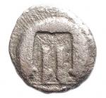 obverse: Mondo Greco - Bruttium. Crotone. ca 480-430 a.C. Dracma. Ag. D/ Tripode. R/ Incuso. Rif HNItaly 2103; SNG ANS 303. Diametro mm. 14,3. Peso gr. 1,76.qMB.