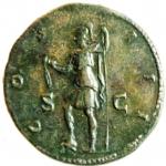 reverse: Impero Romano. Adriano. 117-138 d.C. Sesterzio. AE. Roma, 125-128 d.C. D\ HADRIANVS - AVGVSTVS, Busto laureato a destra, drappeggio sulla spalla sinistra, R\ COS - III, Virtus stante verso sinistra, tiene lancia e parazonium; ai lati S - C. RIC 638; C 356. Peso 25,75 gr. Diametro 33,00 mm.BB+.Patina scura, ben centrato.