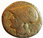 obverse: Mondo Greco. Bruttium. Lokri Epizephrioi. ca. 300-268 a.C. Æ1. D/ Athena a sinistra. R/ Pegaso in volo a sinistra.Peso 9,86 gr. BB. R.°°