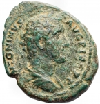 Impero Romano - Antonino Pio. 138-161 d.C.Asse. Æ. Zecca di Roma 145-147 d.C. D/ Busto a destra con testa laureata. R/ Vittoria che guida quadriga al galoppo a destra, tenendo le redini. RIC III 836. Diametro mm. 27,7 x 28,8. Peso gr. 9,81.BB+. Patina verde. R.
