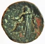 reverse: Mondo Greco. Bruttium. Lokri Epizephrioi. ca 300-268 a.C. Æ. D/ Teste dei Dioscuri verso destra . R\ LOKPON Giove seduto con scettro verso sinistra. SNG ANS 583. Peso 5,21 gr. Diametro 18,78 mm. MB. R.