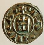 obverse: Zecche Italiane. Genova. Repubblica. 1139-1339. Denaro a nome di Corrado. Ag. MIR 16. Peso gr. 0.85. qSPL. s.v