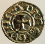reverse: Zecche Italiane. Genova. Repubblica. 1139-1339. Denaro a nome di Corrado. Ag. MIR 16. Peso gr. 0.85. qSPL. s.v