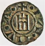 obverse: Zecche Italiane. Genova. Repubblica. 1139-1339. Denaro a nome di Corrado. Ag. MIR 16. Peso gr. 0.70. Diametro mm. 15,00. BB+. s.v