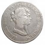 obverse: Zecche Italiane -Lucca e Piombino.Elisa Bonaparte e Felice Baciocchi. 1805-1814.5 franchi 1807.AG.Pag. 253.MB+.R.