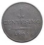 reverse: Zecche Italiane - Milano.Ferdinando I. 1835-1848.1centesimo1846. Ae. BB+.