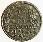 reverse: Zecche Italiane. Ferdinando II Borbone.3 Lire 1792. Ag. CNI 120. qSPL.