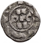 reverse: Zecche Italiane - Pavia. Enrico III di Franconia. 1056-1106. Denaro. AG.MIR 837. Peso gr. 0,90. BB+.