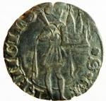 obverse: Zecche Italiane. Pesaro. Costanzo Sforza. 1473-1483. Terzo di grosso. Ag. CNI 26-27. Peso gr. 1.19. BB. R.