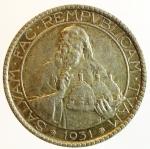 obverse: Zecche Italiane. San Marino. 20 lire 1931. AG. Pag. 342. Bello SPL. Patina. s.v.