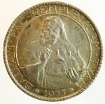 reverse: Zecche Italiane. San Marino. 20 lire 1935. Ag. Gig. 5. SPL. Patinata. s.v.
