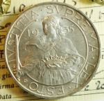 obverse: Zecche Italiane. San Marino. 10 Lire 1935. Gig. 13. FDC. Periziata.