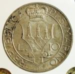 reverse: Zecche Italiane. San Marino. 10 Lire 1935. Gig. 13. FDC. Periziata.